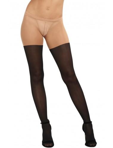 Lingerie - Collants - Collant sexy effet cuissardes lacées noires - DG0220BLK - Dreamgirl