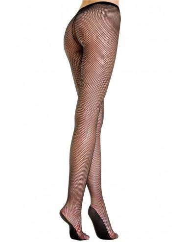 Lingerie - Collants - Collant résille noir pieds renforcés - MH9002BLK - Music Legs