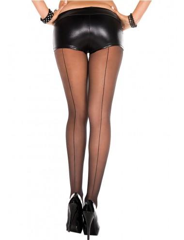 Lingerie - Collants - Collant nylon noir effet coutures arrière - MH331BLK - Music Legs