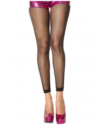 Lingerie - Collants - Collant sans pieds noir fine résille - MH9005BLK - Music Legs