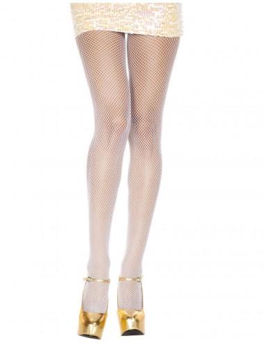 Lingerie - Collants - Collant blanc sexy fine résille - MH9001WHT - Music Legs
