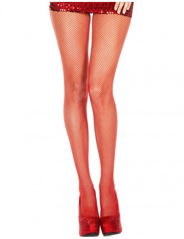 Lingerie - Collants - Collant rouge sexy fine résille - MH9001RED - Music Legs