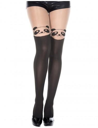 Lingerie - Collants - Collant semi opaque avec tête de panda fantaisie - MH7150BBE - Music Legs