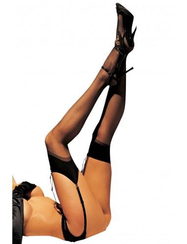 Lingerie - Bas - Bas fins nylon noirs pour jarretelles - SOH90024BLK -