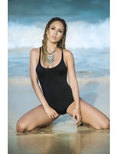 Lingerie - Maillots de bain et tenues de plage - Maillot de bain noir 1 pièce ultra sexy Style 6811 - Mapalé