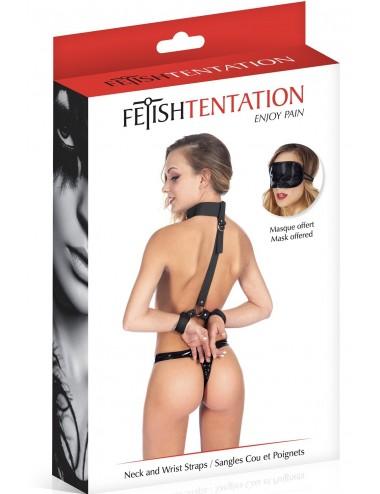 Sextoys - Menottes & accessoires - Harnais muni d'un collier et menottes fétichiste - CC570103 - Fetish Tentation
