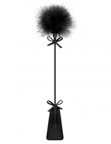 Sextoys - Fouets & Cravaches - Cravache noire bdsm avec plumeau - CC5700770010 - Sweet Caress
