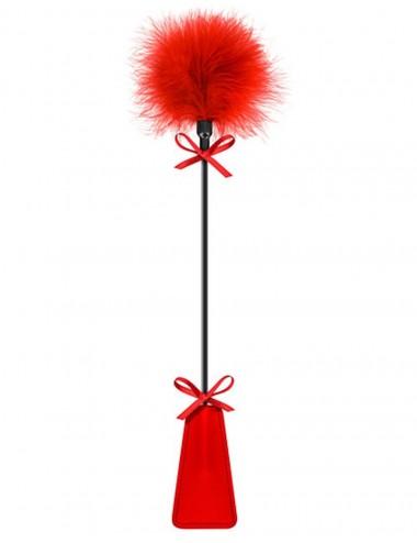 Sextoys - Fouets & Cravaches - Cravache rouge bdsm avec plumeau - CC5700770030 - Sweet Caress