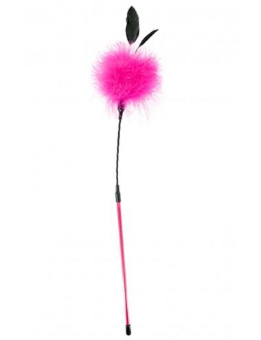 Sextoys - Fouets & Cravaches - Cravache pompon rose avec petites plumes - CC570079 - Sweet Caress