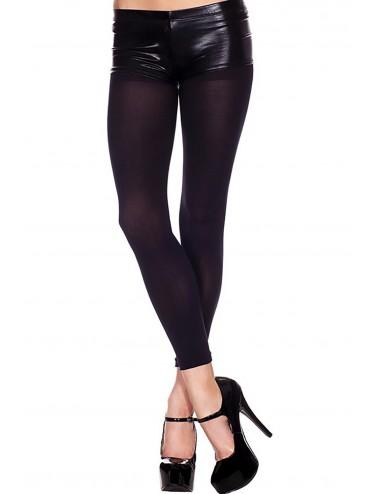 Lingerie - Leggings Sexy - Legging sexy noire semi opaque et élastique - Music Legs