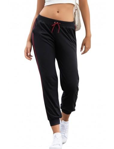 Lingerie - Leggings Sexy - Pantalon noir sportif avec deco linéaires - Mapalé