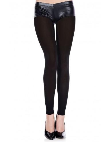 Lingerie - Leggings Sexy - Legging noir fin opaque et uni - MH35747BLK - Music Legs
