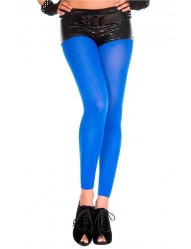 Lingerie - Leggings Sexy - Legging bleu fin opaque et uni - MH35747BLU - Music Legs