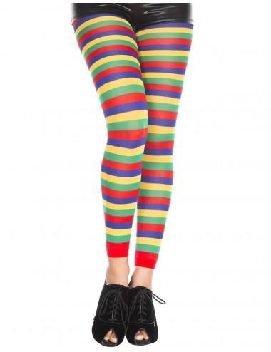 Lingerie - Leggings Sexy - Legging fantaisie coloré bandes horizontales - MH35008RAI - Music Legs