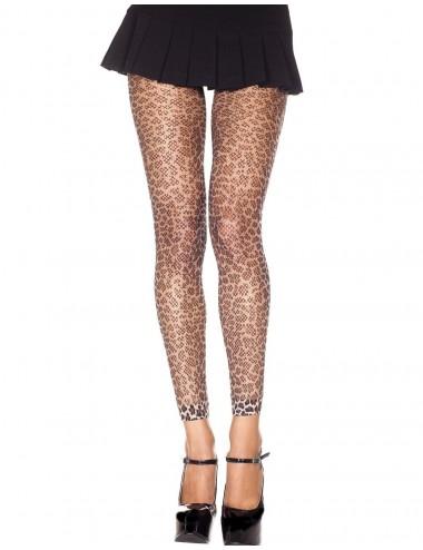 Lingerie - Leggings Sexy - Legging fine résille léopard - MH35822LEO - Music Legs