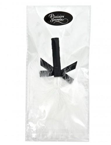 Sextoys - Caresses - Plumeau doux blanc avec noeud satiné - CC5160630020 - Plaisirs Secrets