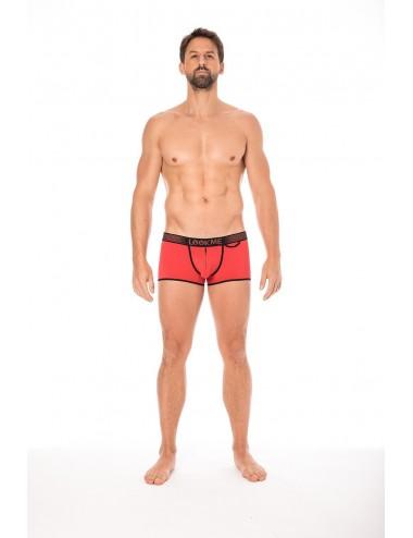 Mini-Pants rouge échancré avec zip - LM2003-68RED