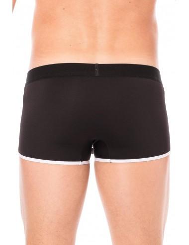 Mini-Pants noir échancré avec zip - LM2003-68BLK