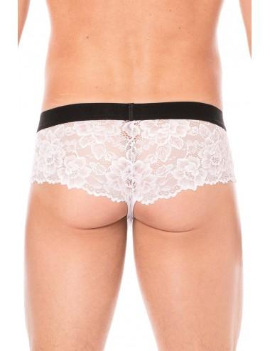 Mini-Pant blanc en dentelle délicate - LM2006-68WHT