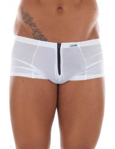 Mini Pant blanc avec double zip Wiz - LM16-68WHT