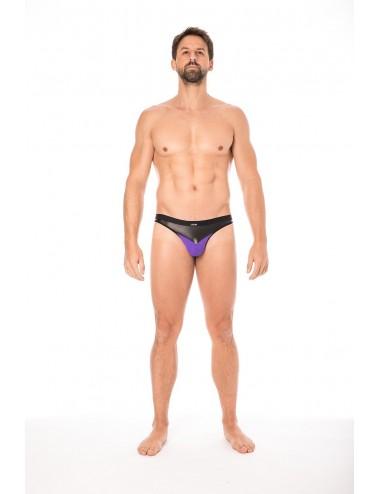 Jock violet simili cuir brillant - LM2001-27PUR