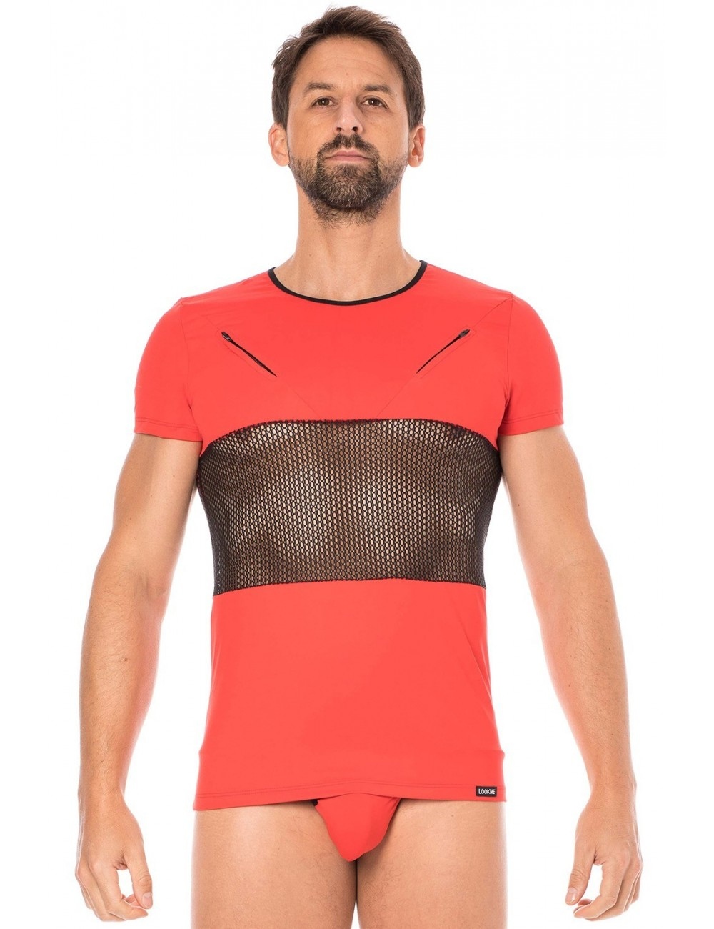 T-shirt rouge filet - LM2004-81RED