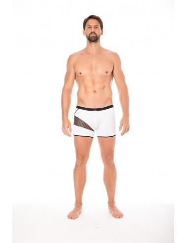 Boxer blanc filet et corde - LM2004-67WHT