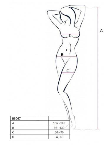 Lingerie - Combinaisons - BS067B Bodystocking - Noir - Passion