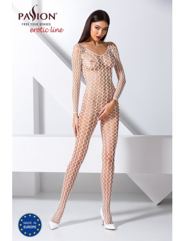 Lingerie - Combinaisons - BS068W Bodystocking - Blanc - Passion