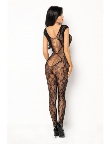 Lingerie - Combinaisons - Bodystocking sexy en maille à motif florale noire Kiara - Beauty Night