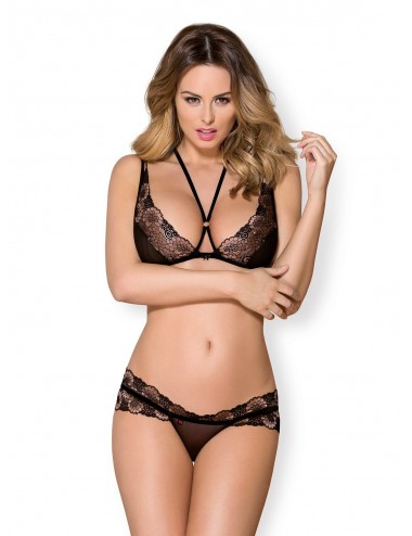 Lingerie - Ensembles de lingerie - Ensemble de lingerie modulable 3 pièces - Noir - Obsessive - 873-SEA-1 - Obsessive