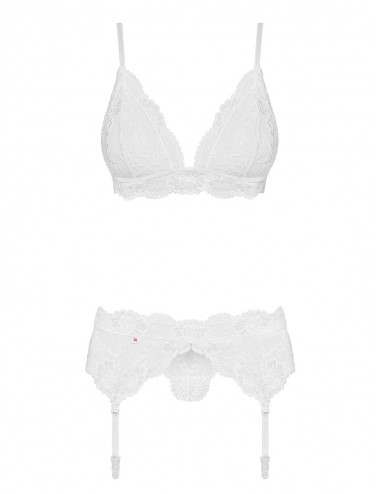 Lingerie - Ensembles de lingerie - 810-SEG-2 Ensemble 3 pcs - Blanc - Obsessive