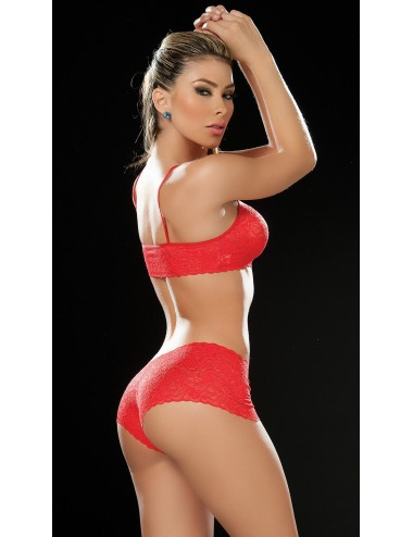 Lingerie - Ensembles de lingerie - Ensemble de lingerie 2 pièces Style 206 - Rouge - Obsessive - MAP-03128 - Mapalé