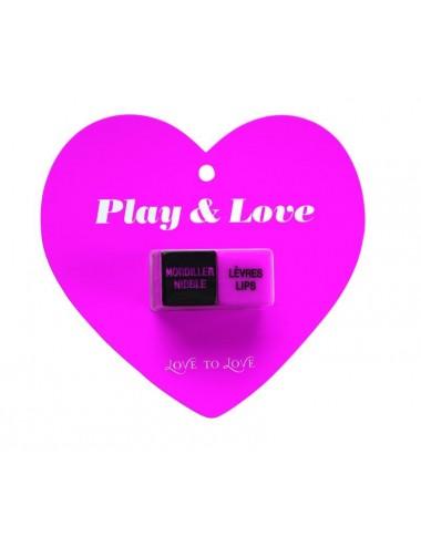 Sextoys - Jeux coquins - Dés Play love - Rose Noir - Love to Love