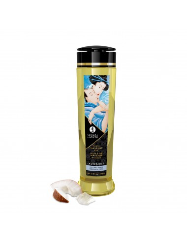 Huile de massage érotique - Adorable - Frissons de coco - 240 ml - Huiles de massage - Shunga