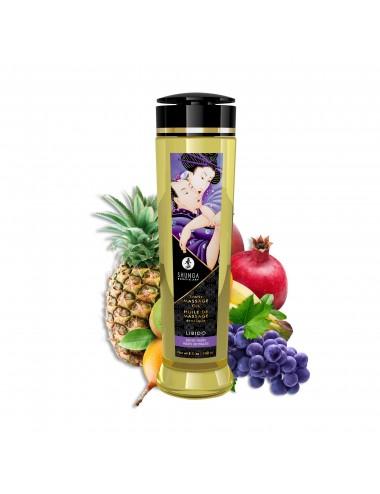 Huile de massage érotique - Libido - Fruits exotiques - 240 ml - Huiles de massage - Shunga