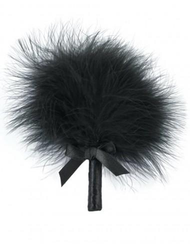 Sextoys - Caresses - Plumeau caresses sensuelles noir avec nœud satiné - 100300BLK - Dreamy Toys