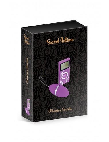 Sextoys - Oeufs Vibrants - Oeuf vibrant violet 10 vitesses télécommande écran LCD - CC5720000050 - Plaisirs Secrets