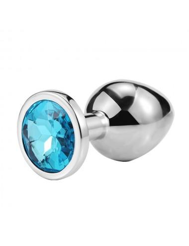 Sextoys - Plugs - Plug bijou en aluminium bijou bleu Large - RY-003LBL - Dreamy Toys
