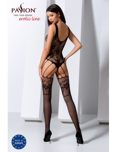 Lingerie - Combinaisons - BS074B Bodystocking - Noir - Passion Lingerie