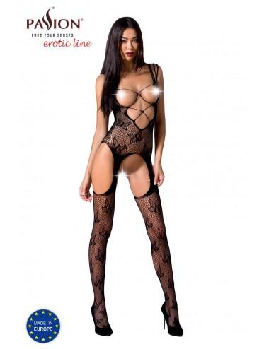 Lingerie - Combinaisons - BS075B Bodystocking - Noir - Passion Lingerie