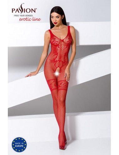 Lingerie - Combinaisons - BS069R Bodystocking - Rouge - Passion Lingerie