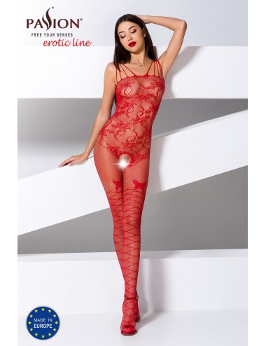 Lingerie - Combinaisons - BS076R Bodystocking - Rouge - Passion Lingerie