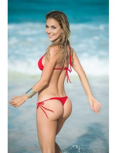 Lingerie - Maillots de bain et tenues de plage - Maillot de bain 2 pcs Style 6728 - Rouge - Mapalé