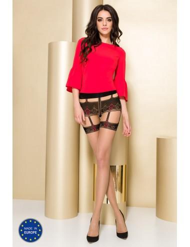 Lingerie - Collants - TI103 Collants 20 DEN - Nude et Rouge - Passion Lingerie