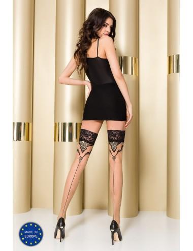 Lingerie - Bas - ST109 Bas 20 DEN - Nude et Noir - Passion Lingerie