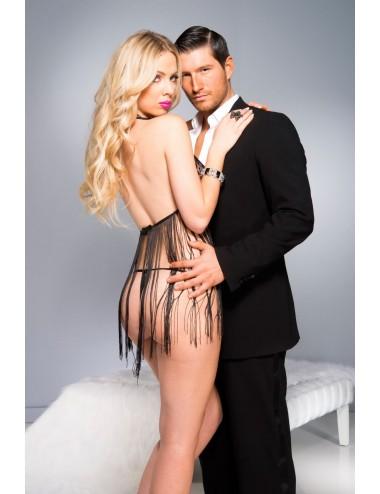 Lingerie - Robes et jupes sexy - Robe Esperance - ML60052BLK - Music Legs