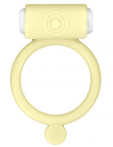Cockring phosphorescent jaune vibrant avec stimulation du clitoris - CC570028