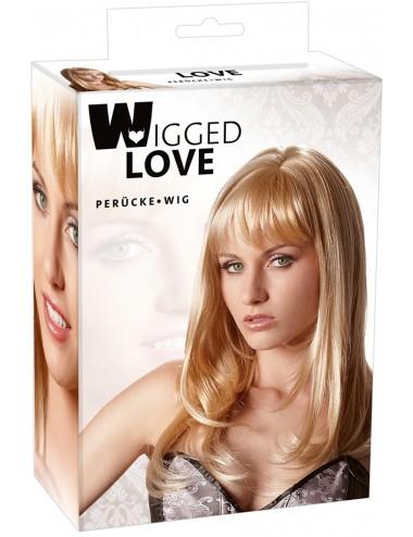 Perruque blonde mi-longue - ORI771708