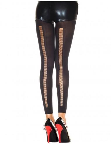 Lingerie - Leggings Sexy - Legging noir fashion et fin ajouré sur l'arrière - MH35241BLK - Music Legs